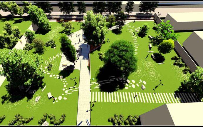 uredjenje parka u novom sadu idejno rjesenje projektovanje pejzaznog urednjenja