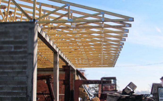 kombajn krov Binderi Bijeljina-montaza resetkaste