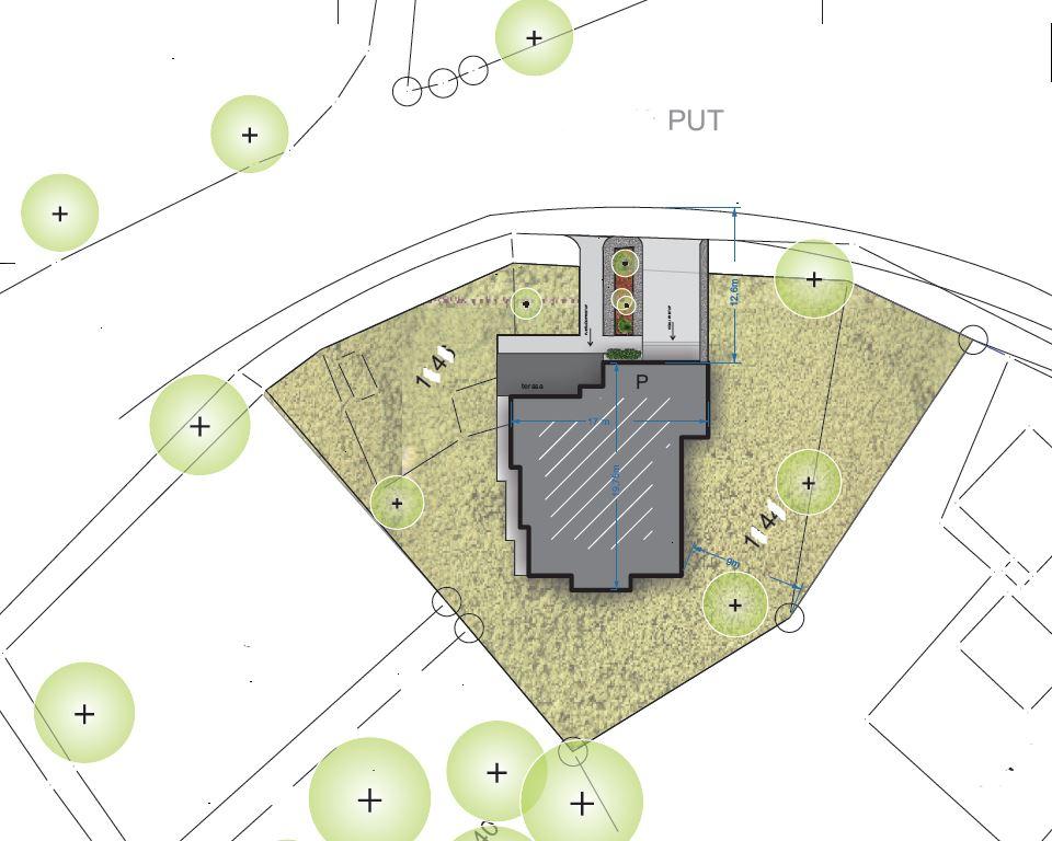 projekat prigradske porodicne vile - projektni biro Mali Gradjevinar arhitektonske usluge moderne kuce idejno rjesenje situacija