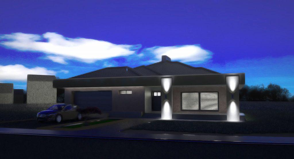 projekat prigradske porodicne vile - projektni biro Mali Gradjevinar arhitektonske usluge moderne kuce idejno rjesenje